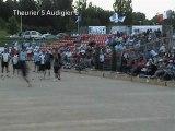 Fin quart de finale 2D Audigier vs Theurier Championnat de France 2012 Sport-Boules Quadrette à Vichy