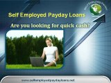 Self Employed Payday Loans – Same Day Loans, Personal Loans