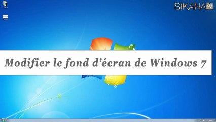 Windows 7 : Comment changer son fond d'écran ? - HD