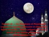 Tarawih 20  « Les Musulmans et Musulmanes, croyants et croyantes, obéissants et obéissantes, loyaux et loyales… Allah a préparé pour eux un pardon et une énorme récompense »{Shaikh Ibrahim Mulla}