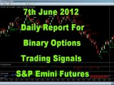 7th June Daily Report S&P 500 Emini Futures Trading Free Binary Options Alerts