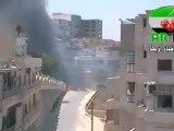 Syria فري برس إدلب   أريحا   تفجير دبابة تابعة للجيش الأسدي 9 8 2012