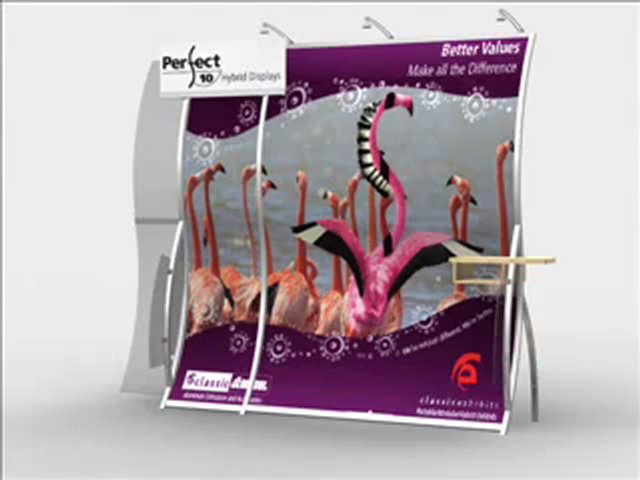 Trade Show Displays – Perfect 10 Portable Hybrid Trade Show Displays