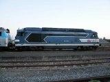 L'intercités 3856 quitte Luçon le soir du 10 août 2012