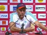 Conférence de presse Stade de Reims - Olympique de Marseille : Hubert FOURNIER (SdR) - Elie BAUP (OM) - saison 2012/2013