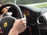 Ferrari F430 Chasing Lamborghini Gallardo, Mercedes , Ferrari 360 - Exotic Rides Mexico Road Tour
