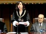 María Emilia Casas se emociona en su despedida del Tribunal Constitucional