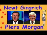 Newt Gingrich Piers Morgan  schooled on CNN