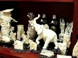 Mammoth Ivory Handcrafted Walking Elephant Carving 37480 (Master Piece)