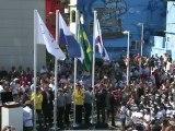 Brésil : le drapeau olympique hissé dans une favela de Rio