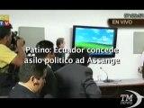 Ecuador concede asilo politico ad Assange, l'annuncio - VideoDoc. Il ministro degli Esteri Patino in conferenza stampa