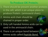 Protein production; planned, high in quality, wasteless, a just in time biosynthesis