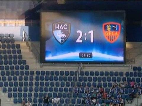 Football : match HAC / Gazelec Ajaccio