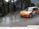 Rallye de l'Escarène 2011 equipage vial et dalbera du teamvaliplan es 3 arrivée de loda
