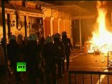 First video of Athens night clashes as Greece fights austerity