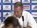 Conférence de presse Olympique Lyonnais - ESTAC Troyes : Rémi GARDE (OL) - Jean-Marc FURLAN (ESTAC) - saison 2012/2013