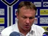 Conférence de presse SC Bastia - Stade de Reims : Frédéric HANTZ (SCB) - Hubert FOURNIER (SdR) - saison 2012/2013