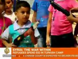 Syrian refugees spend sombre Eid in camps