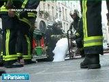Violent incendie dans les égouts à Paris