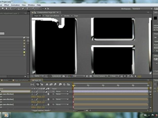 Crear efecto cromado en texto-logos - Tutorial After Effects
