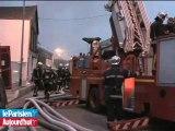 Violent incendie au Bourget