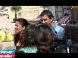 Cannes : Antonio Banderas et Salma Hayek jouent à chat perché