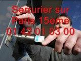 Serrurier sur Paris 15eme 01 42 01 03 00 Serrure serrurerie 75015