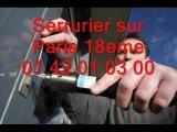 Serrurier sur Paris 18eme 01 42 01 03 00 Serrure serrurerie 75018