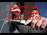Serrurier sur Paris 20eme 01 42 01 03 00 Serrure serrurerie 75020