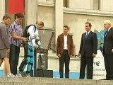'Bionic woman' lights paralympic cauldron