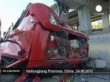 Chine : effondrement d'un pont, trois morts - no comment