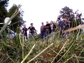 La petite équipe vidéo Pw3 sur le Grand Complet au Haras du Pin 2012 vue du ciel