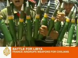 France airdrops weapons for civilians