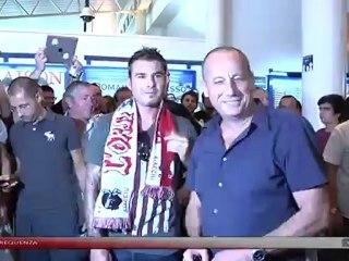 Football (Ligue 1) - Arrivée d'Adrian Mutu à Ajaccio