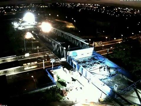 Timebox-Prod Vidéo de Chantier en accéléré, déconstruction et dépose du pont de la Matte.