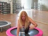 Monya fitness esercizi stabilità e pilates sul trampolino elastico palestra ALBESE FITNESS CENTER