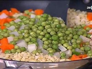 chhiwat choumicha - recette facile a faire | merguez et salade de blé