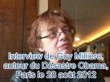Interview de Guy Millière sur son nouveau livre Le désastre Obama