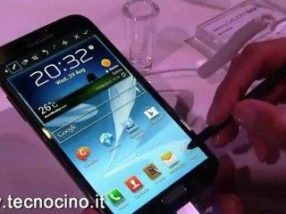 Samsung Galaxy Note 2: anteprima video del nuovo smartphone
