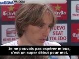 Premier match et premier titre pour Luka Modric !