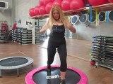 Monya fitness lezione su come fare gli affondi sul trampolino elastico ALBESE FITNESS CENTER