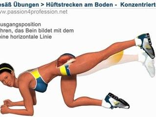 Hüftstrecken am Boden - Konzentrierte (Po Übungen)