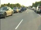 Moto roue arrière fail
