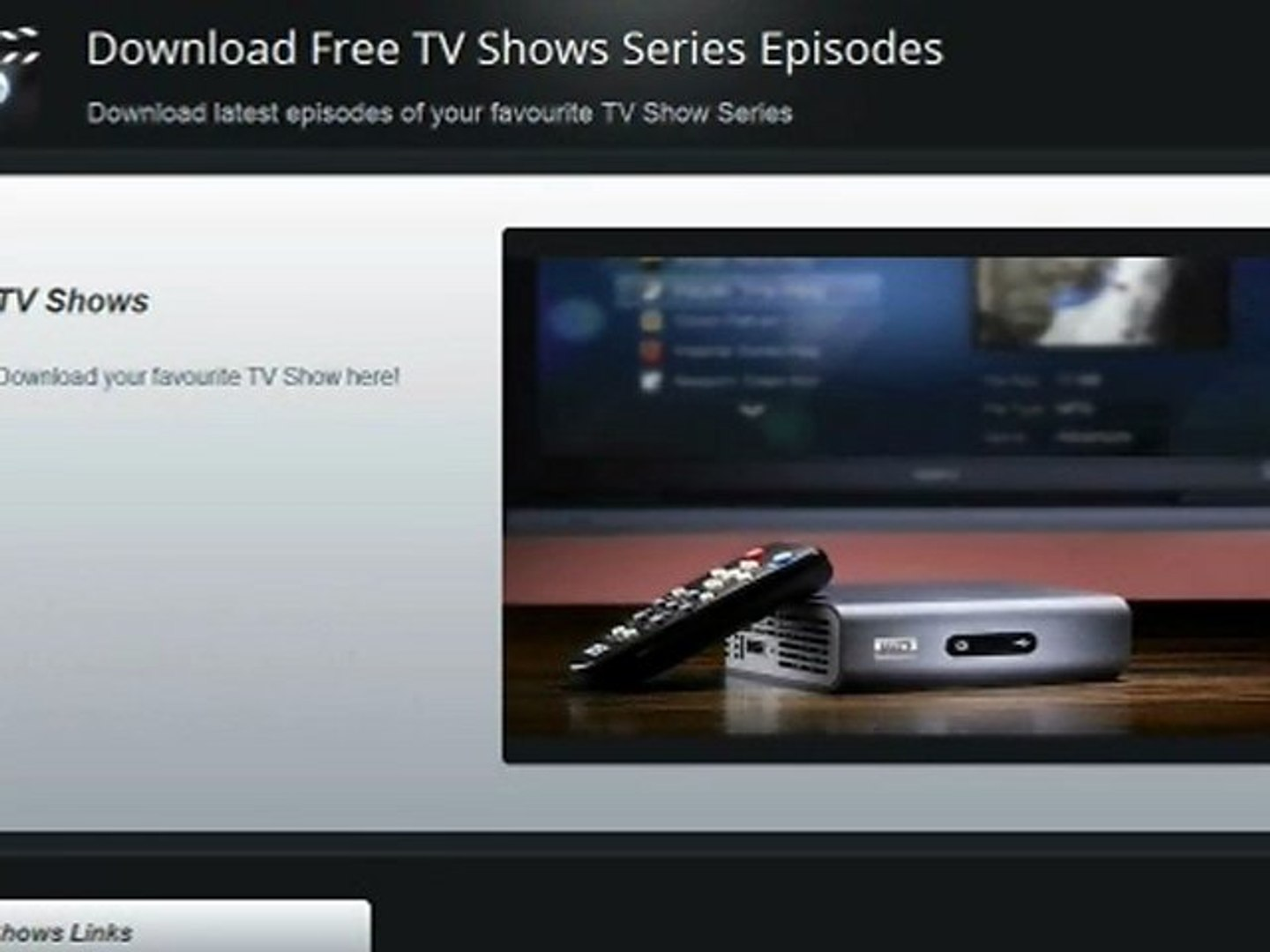 Download TV Shows for Free - Free TV Shows Series - Episodes Download