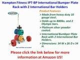 BEST BUY Hampton Fitness IPT-BP International Bumper Plate Rack with 2 International Bar Holders