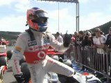 F1 Belgian GP 2012 - Button and Hamilton comparison qualifying lap