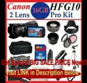 Canon VIXIA HF G10 Full HD Camcorder with HD CMOS Pro and 32GB Internal Flash Memory with SSE 16GB Pro Kit includes 2 Batt...