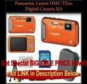 Panasonic Lumix DMC-TS20 Waterproof Digital Camera (Orange) Kit. Includes: 8GB SDHC Memory Card, Memory Card Reader & Tabl...