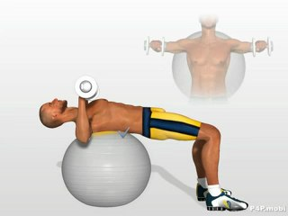 Training Pectoral muscles with Stability Ball (Swiss Ball)