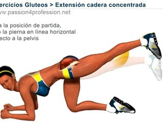 Ejercicio para trasero (musculos nalgas):  extensión cadera concentrada